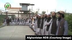 طالبان بازداشت شده که به اساس فرمان رئیس جمهور افغانستان از توقیفگاه ریاست امنیت ملی این کشور رها شدند. August 12 2019