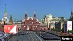 Парад Победы на Красной площади в Москве, 24 июня 2020 года