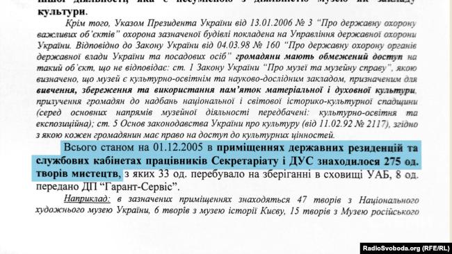 Звіт Рахункової палати за 2005 рік щодо єдиного проведеного за увесь час незалежності аудиту в ДУС