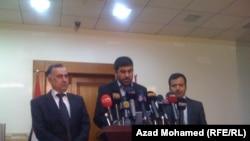 ممثلو أحزاب المعرضة الكردية في مؤتمر صحفي بالسليمانية