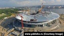 """Строительство """"Газпром Арены"""" в Санкт-Петербурге, архивное фото"""
