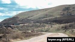 Дорожные работы возле села Курортное