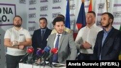 lDritan Abazović, ider koalicije Crno na bijelo