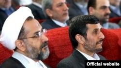 حیدر مصلحی (چپ)، وزیر اطلاعات جمهوری اسلامی ایران در فهرست جدید تحریم های اتحادیه اروپا قرار گرفته است.