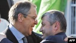 ედუარდ კოკოითი რუსეთის საგარეო საქმეთა მინისტრ სერგეი ლავროვთან ერთად