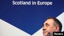 آلکس سالموند سیاستمدار طرفدار جدایی از بریتانیا