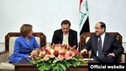 المالكي يستقبل الرئيسة السابقة لمجلس النواب الاميركي نانسي بيلوسي