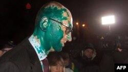 Արսենի Յացենյուկը հարձակումից հետո, Խարկով, 12-ը փետրվարի, 2014թ․