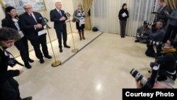 """""""Норманд төрттігі"""" деп аталатын топ елдері - Украина, Ресей, Франция және Германия сыртқы істер министрлерінің кездесуі. Минск, 29 қараша 2016 жыл."""