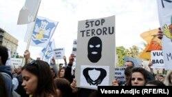 Protesti građana Beograda zbog nasilnih aktivnosti u Savamali, 25. maj 2016.