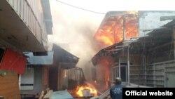 Пожар в Узгене