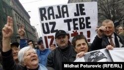 Mirni protesti u Sarajevu nakon hapšenja Jovana Divjaka, 05. mart 2011.