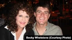 Becky Whetstone (left) with her son, U.S. Marine Lance Corporal Benjamin Whetstone Schmidt, who died in October 2011