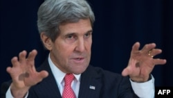 U.S. Secretary of State John Kerry was expected in Geneva to participate in talks between representatives of Iran and world powers over Iran's disputed nuclear program. (file photo)