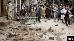 Nga tërmeti i 26 tetorit, 2015, në Pakistan.