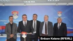 Lideri opozicionih stranaka iz Saveza za promjene u RS Bosić, Ivanić, Čavić, Mihailica, Šukalo