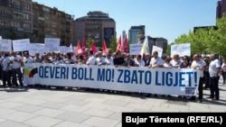 Për Një Maj, qytatarët në Prishtinë kishin protestuar, duke kërkuar më shumë të drejta për punëtorët.