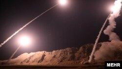Ракетный обстрел Ираном боевиков в Сирии. 1 октября 2018 года