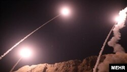 "Iran ""Islamic Revolutionary Guard Corps"" said launches surface to surface ballistic missiles at targets in east of euphrates eastern Syria in reaction to Ahvaz attacks."
