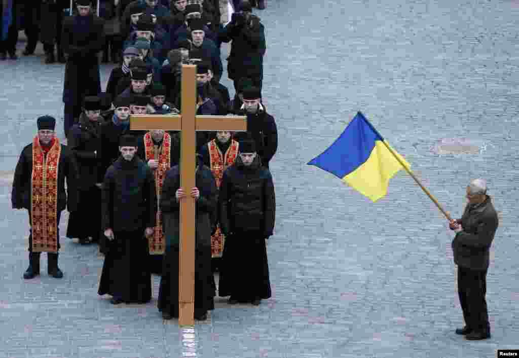 Трэція ўгодкі ўкраінскага Майдану, Кіеў, 20 лютага.