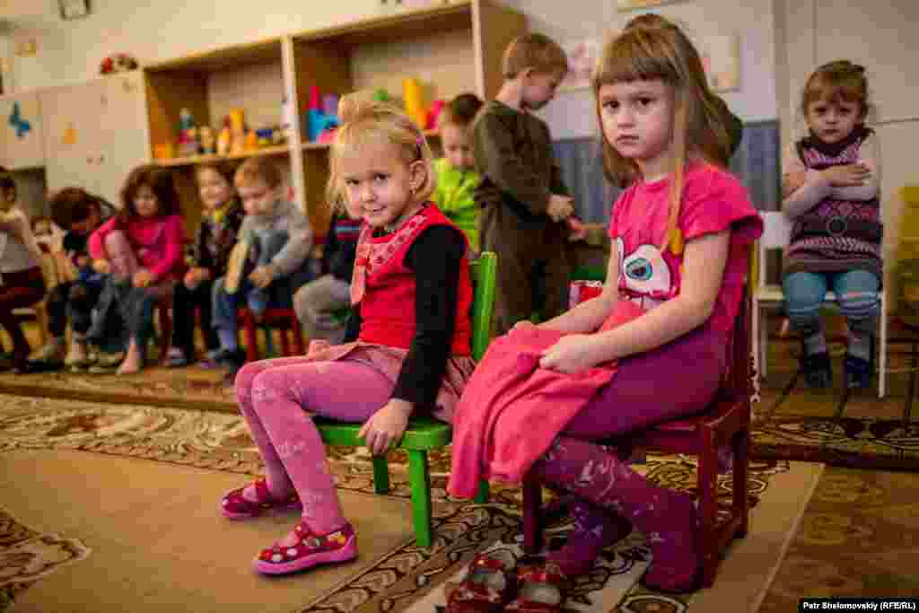 Only one kindergarten is still running in Debaltseve. Several others are undergoing repairs.