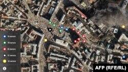 Клікніть, щоб переглянути інтерактивну карту подій на Майдані 18-22 лютого