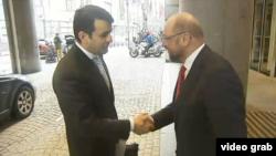 Premierul Moldovei întîmpinat la Bruxelles de Martin Schulz, președintele Parlamentului European