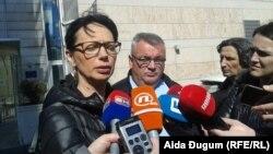 Suzana Radanović i Muriz Memić u razgovoru sa novinarima