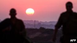 نمایی از مرز اسرائیل با غزه