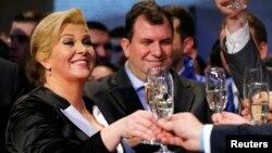 Slavlje u izbornom štabu nakon pobjede Kolinde Grabar Kitarović