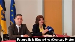 Mirsada Župani Zulić na jednoj od konferencija za novinare