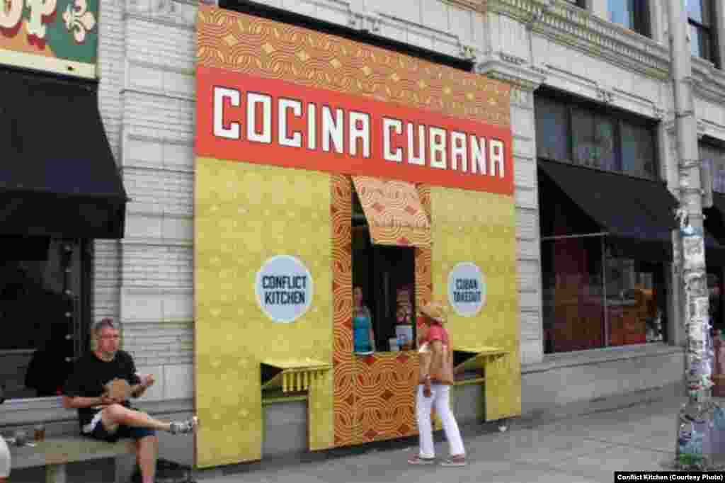 Conflict Kitchen's Cuban facade
