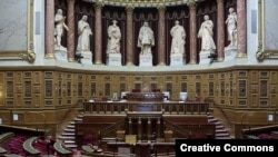 France - The Senate, the upper house of the French parliament.