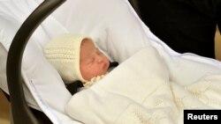 Britaniya şahzadəsi Uilyamın yeni doğulmuş qızı. May, 2015