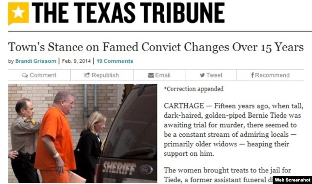 Texas Tribune. Bernie-nin təkrar məhkəməsi