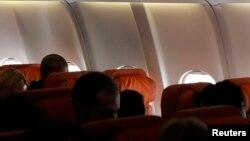 Пустое пассажирское кресло, в котором должен был находиться Эдвард Сноуден во время рейса Москва - Гавана, 24 июня 2013 года.