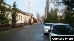 Улица, на которой расположен дом президента Шавката Мирзияева; фото: Ц-1.