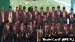 Tajikistan,Dushanbe city, Tajikistan Football Federation awards to bests in 2014, 5December2014
