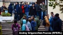 Евакуація зі студентського гуртожитку в Казані, Татарстан, Росія, 3 жовтня 2017 року