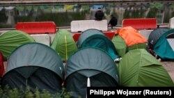 Tenda të migrantëve, foto ilustruese.