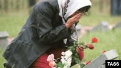 Богородское кладбище, Москва. Мемориал неизвестным солдатам, погибшим в Чечне
