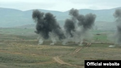 Karabakh Armenian forces holding military exercises in Nagorno-Karabakh
