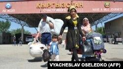 Пункт пропуска на кыргызско-узбекской границе.