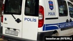Полицейский микроавтобус в Азербайджане. Иллюстративное фото.