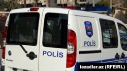 Azerbaijan -- police car Baku