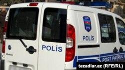 Bakıda polis maşını
