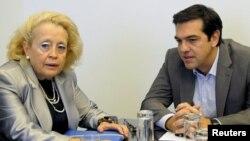Васілікі Тану (л) і Алексіс Ципрас (п), архівне фото