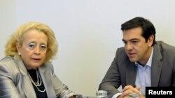 Васілікі Тану і Алексіс Цыпрас