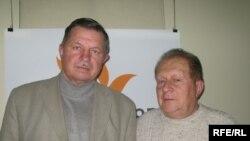 Анатолій Лопата та Вадим Гречанінов у студії Радіо Свобода