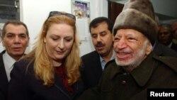 Јасер Арафат и неговата жена Суха, 29 октомври 2004.